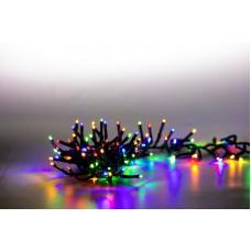 Řetěz světelný 200 LED dvojitý 2 m - barevná