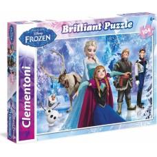 Clementoni Disney Brilliant Frozen 104 dílků
