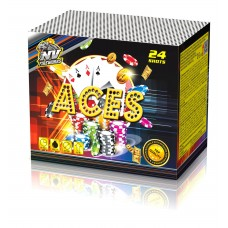 ACES - kompaktní ohňostroj - kompakt 24 ran / 25 mm