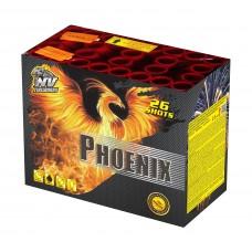 PHOENIX - kompaktní ohňostroj - kompakt 26 ran / 30 mm